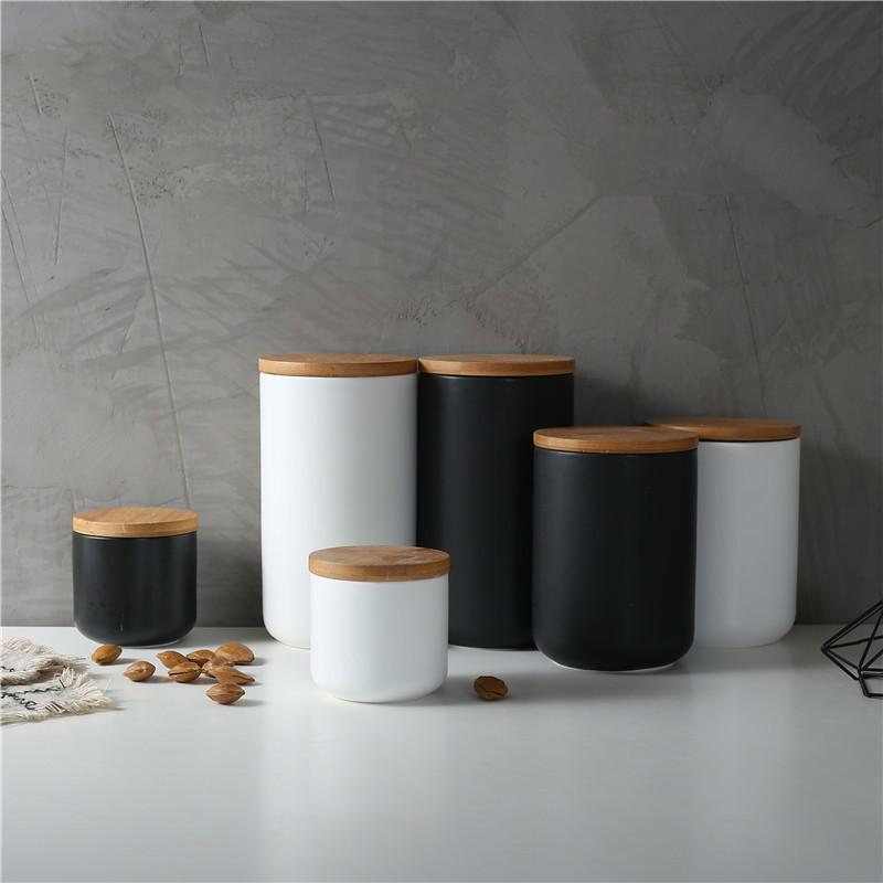 800ML Sealed Ceramic Storage Jar for Spices Tank Container for Eating with Lid Bottle Coffee Tea Candy Jar Kitchen Organizer