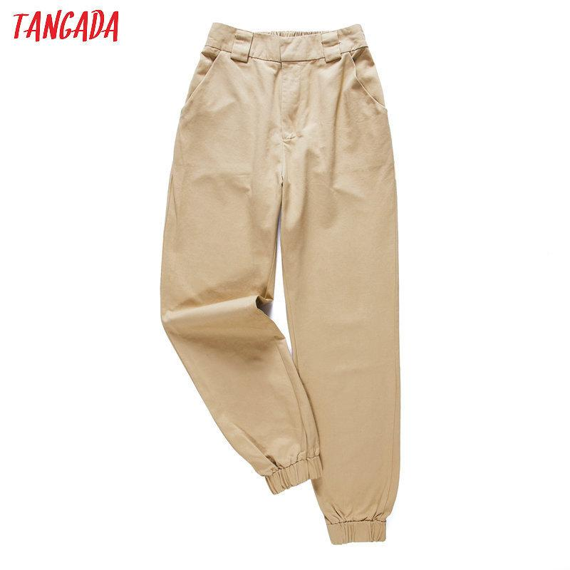 7a6ccdf12 2019 Tangada Fashion Woman Pants Women Cargo High Waist Pants Loose ...