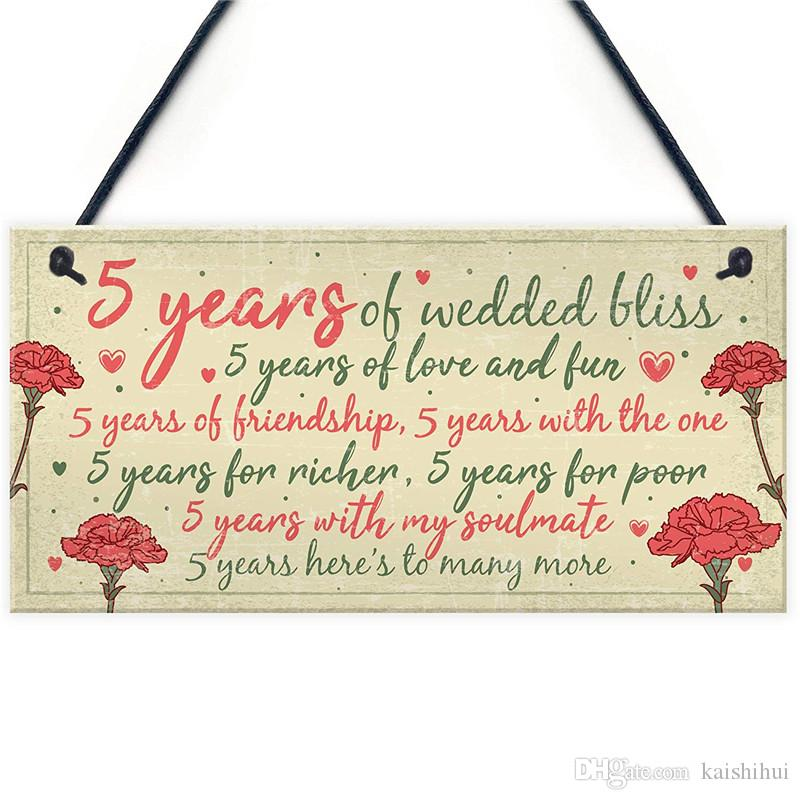 5th Anniversary Gifts For Her: 5th Wedding Anniversary Card Gift For Husband Wife Five