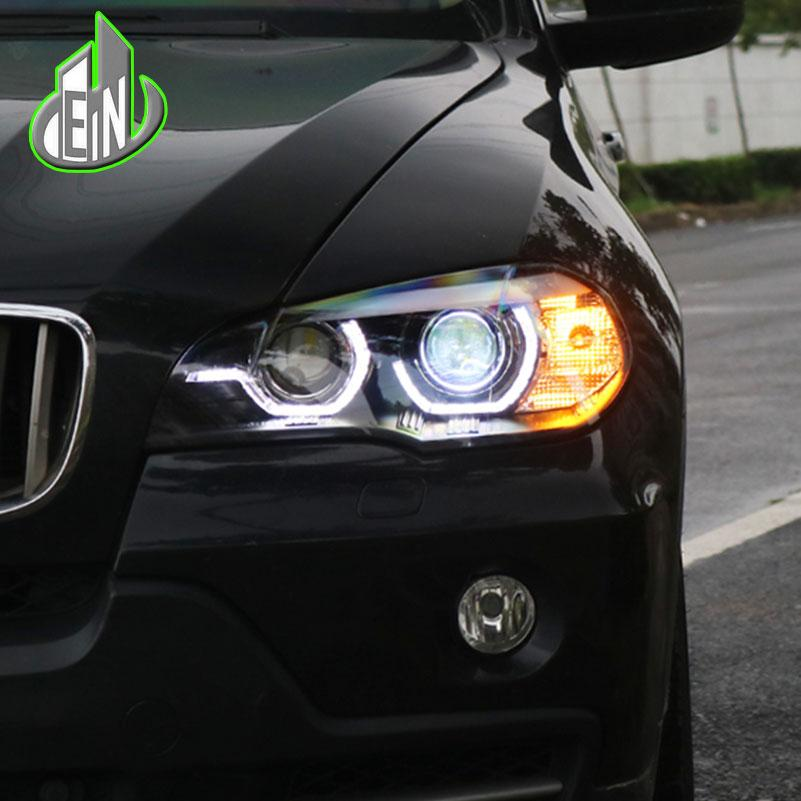 Car Styling For Bmw X5 E70 2007 2013 Headlight For Bmw X5 Head Lamp Auto Led Drl Double Beam H7 Hid Xenon Bi Xenon Lens