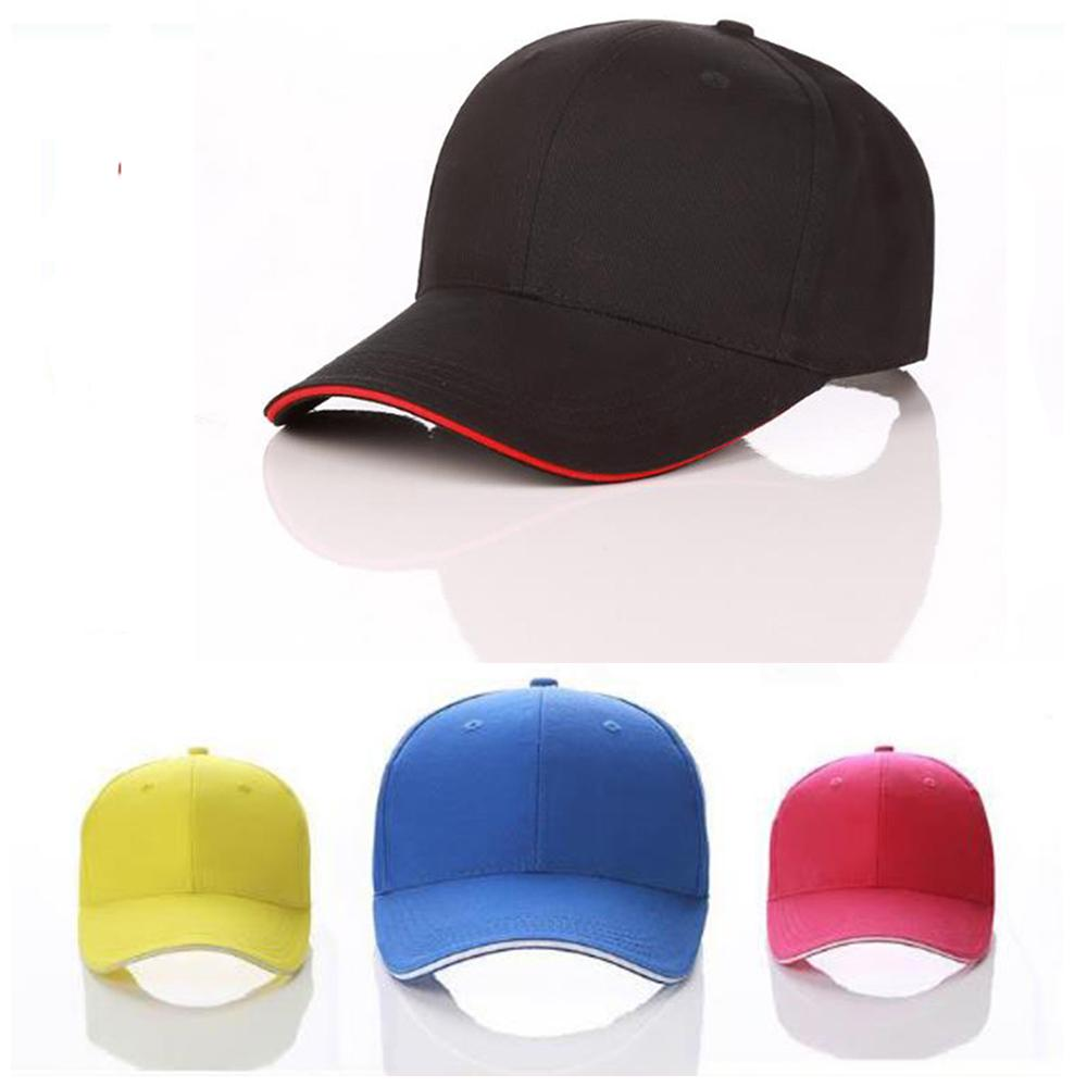 848ad294 Men and women in Solid color baseball cap curved visor hat size adjustable  Nylon bra ribbon casual hats