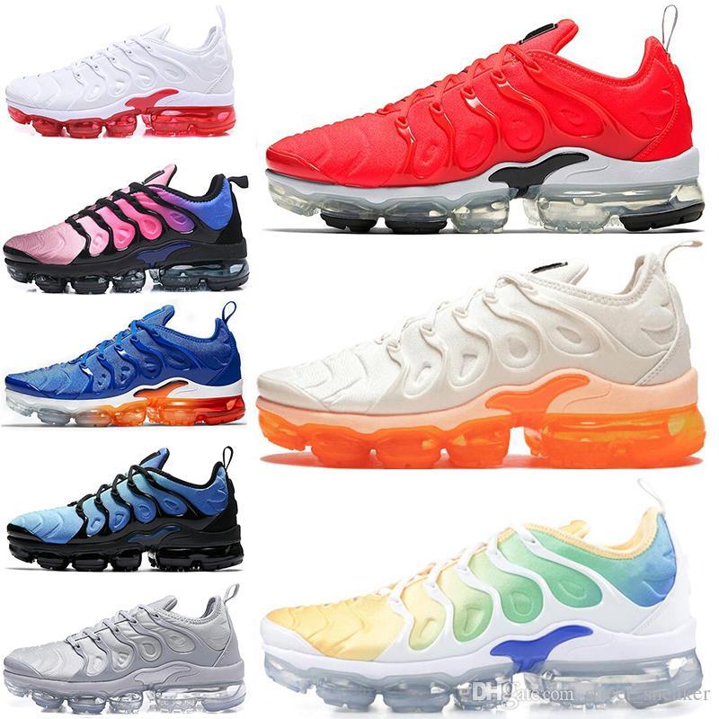 huge selection of 47ca6 f0c1b Acheter Nike Air Max Plus TN Ultra TN Plus Chaussures De Course Hommes  Femmes Mandarine Menthe USA Creamsicle Jeu Royal Grape Coucher Du Soleil  Neon 95 ...