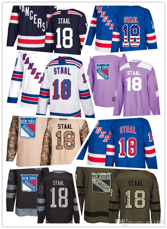 online retailer 5757d f1ef3 New York Ranger jerseys #18 Marc Staal Jersey hockey men women youth white  navy blue home away Stiched Fanatics Winter Classic Jerseys