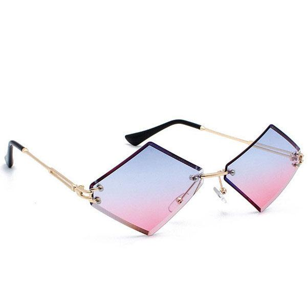 2e6884341e8 AZB01 Rhombus Women Outdoor Sunglasses Beach Street Wear Party ...