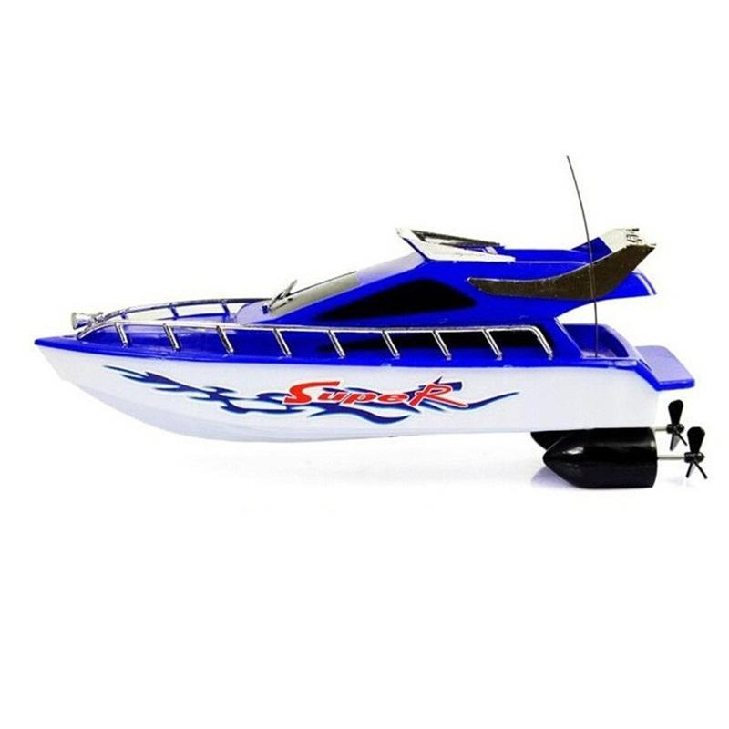 Children Toy Boat Wireless Remote Control Speedboat Boy Girl Birthday Gift Realistic Easy To Use Multi Colors 22ml D1
