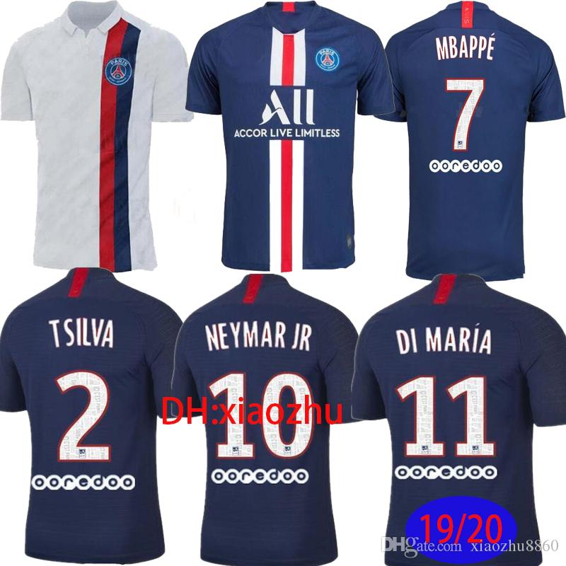 new product 5751a 8c86c 19 20 PSG Soccer Jerseys MBAPPE 2019 2020 Paris CAVANI Jersey saint germain  Mesh SS TOP VERRATTI Football Shirt DI MARIA Maillot de Football