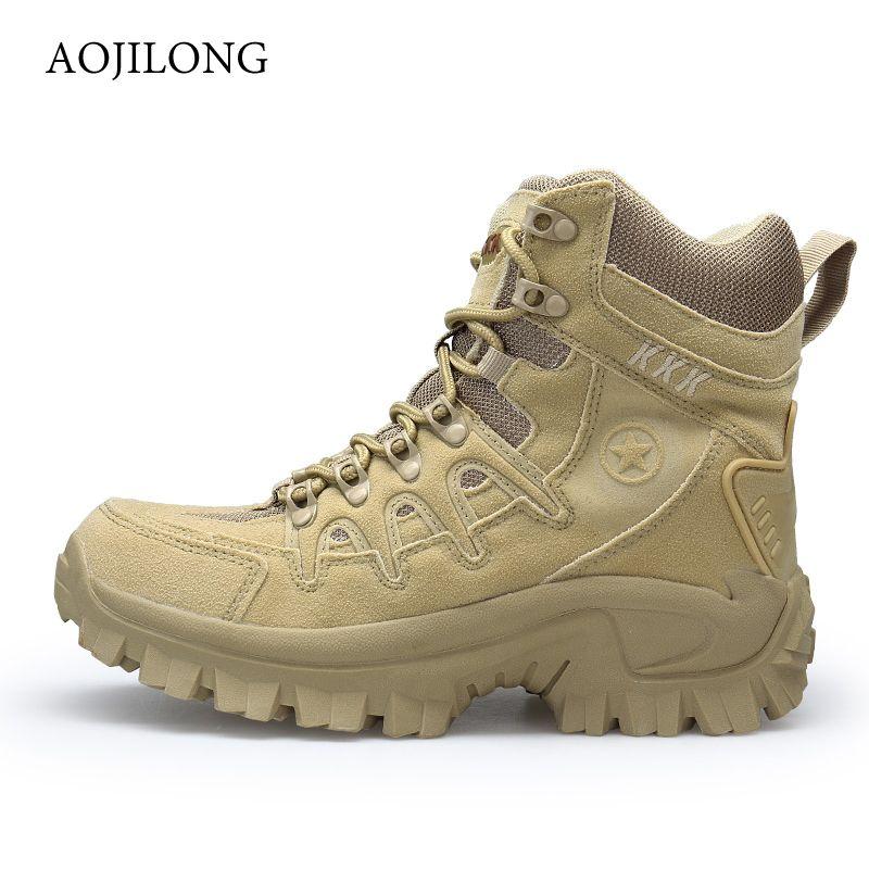 Combat Randonnée Tactique Bottes Montagne Militaire Spéciale Plein Pour De Désert La Sports Manli Chaussures Hommes Force Air fby76g