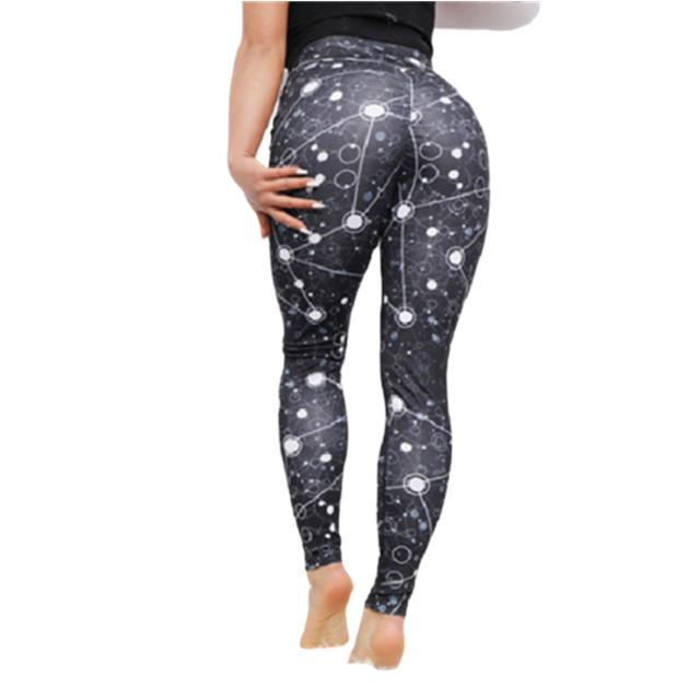 Yoga Pants New Fashion Trendy Clothing Women Fitness Workout Running Gym Slim Digital Print High Waist Leggings Black Sportwear 9366