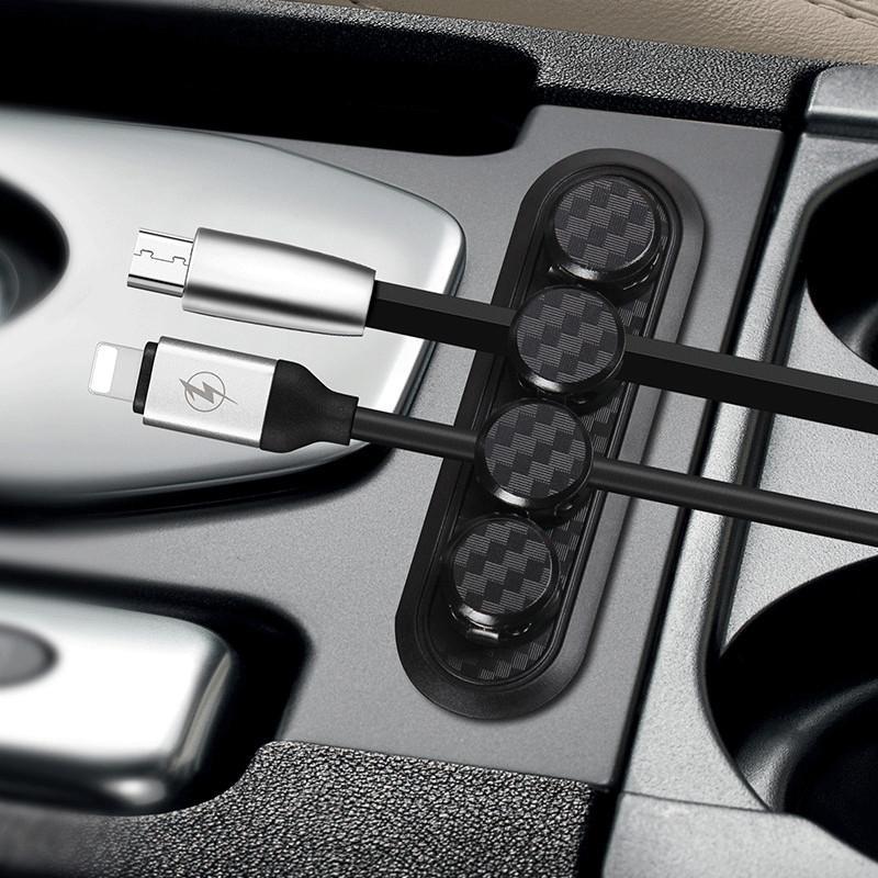 هوت سيارة جديدة المغناطيسي ثابت كابل كليب حامل USB سلك كابل التخزين المنظم حامل