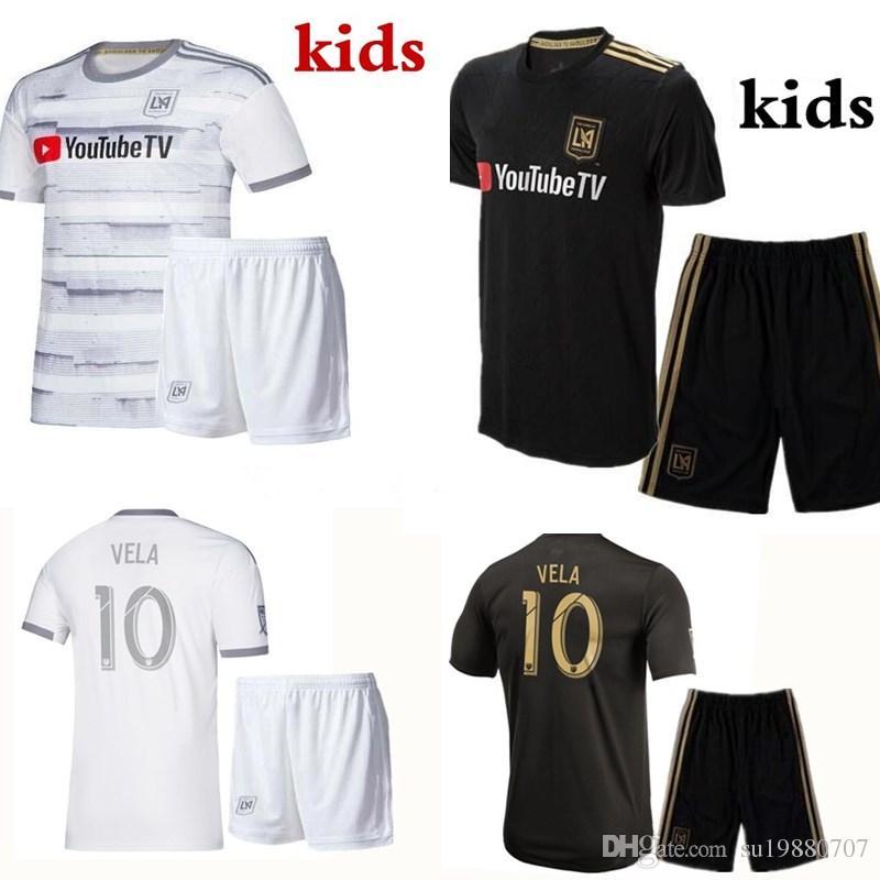sale retailer f1192 34674 Kids kit 2019 2020 la Los Angeles fc LAFC soccer Jerseys 19 20 ZIMMERMAN  GABER ROSSI CIMAN VELA FOOTBALL girl kids