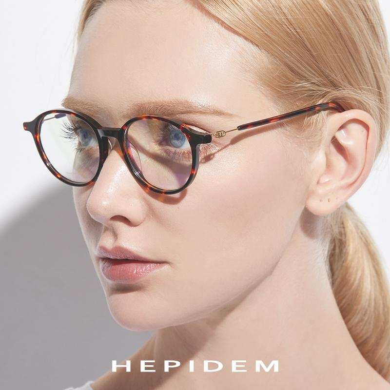 7cc3091455e Acetate Glasses Frame Men Women Round Prescription Eyeglasses ...