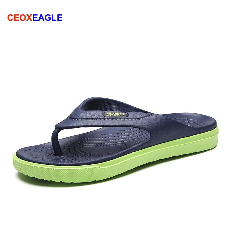 ed1b838493b6d 2019 Fashion Summer Men FlipFlops Slippers Male Quick Dry Lightweight  Outdoor Beach Sandals For Man Soft Non Slide Zapatos Shoes Ladies Shoes Red  Shoes From ...