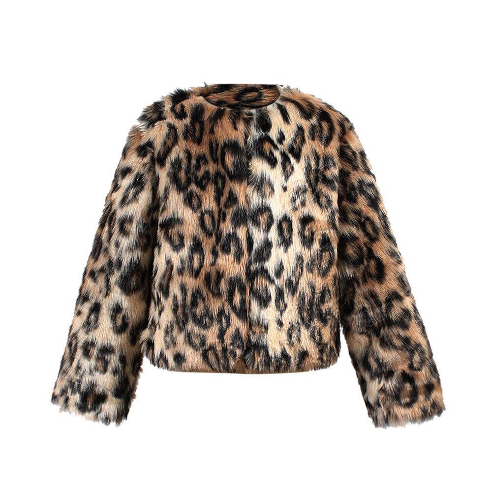 9dcc1b587e05 Baby Girl Boys Clothes Children Coat Jackets Fashion Feminine Coat Kids  Faux Fur Winter Leopard Print Jacket Thick Warm Outwear Children Coats And  Jackets ...