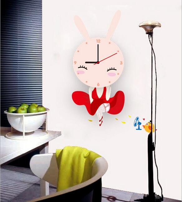 new zooyoo electronic battery timekeeper diy lovely pink rabbit