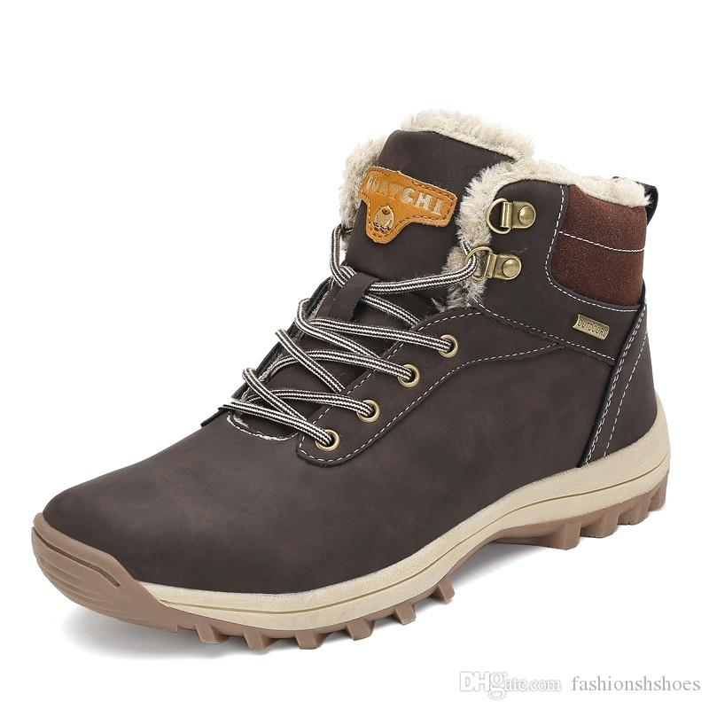 509af7963c8 Christmas Fashion Winter Shoes Man Warm Snow Boots Zapatos De Hombre Ankle  Martin Boots Lace-up Casual Shoes Outdoor Flats #5211