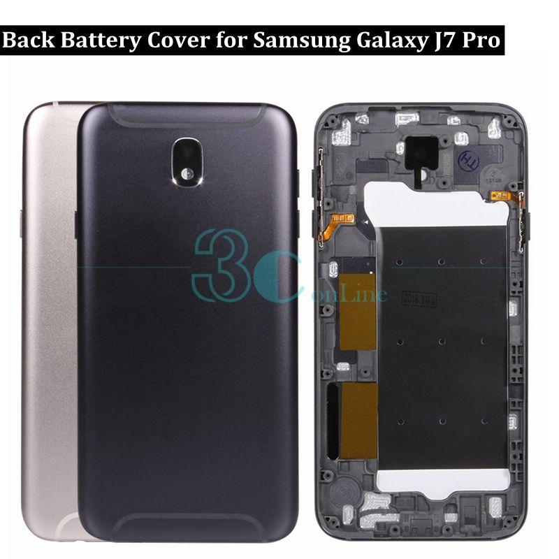 fbe221136 Para samsung galaxy j7 pro tampa traseira da bateria de metal tampa da  caixa da porta traseira para galaxy j7 pro j730f substituição de peças de  reposição ...