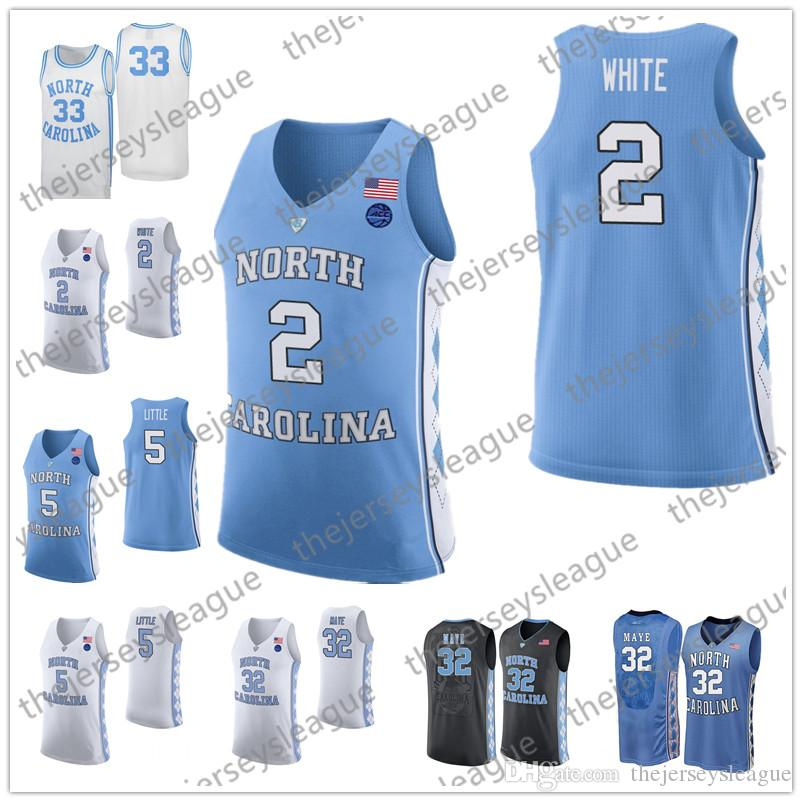 89a0ee70765 2019 North Carolina Tar Heels  15 Vince Carter 0 Seventh Woods 23 Michael  40 Harrison Barnes Black White Blue NCAA College Basketball Jerseys From ...