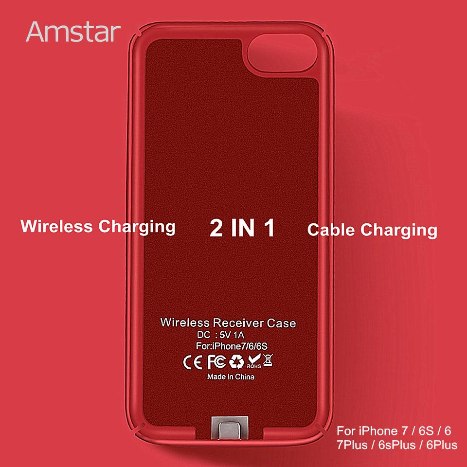 info for 54784 9f1c1 Amstar Wireless Charger Receiver Case Cover Qi Wireless Charging  Transmitter Cover Qi Receiver Phone Case For Iphone 7 6s 6 Plus J190427