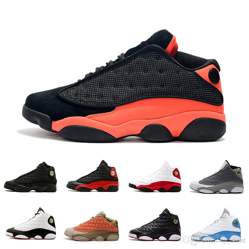 9850fe3e3b8 2019 Atmosphere Grey 13 13s Black Infrared Men Basketball Shoes GS  Terracotta Blush Olive XIII 13s Mens Bred Sports Sneakers Athletics 8 13  Sports Shoes ...