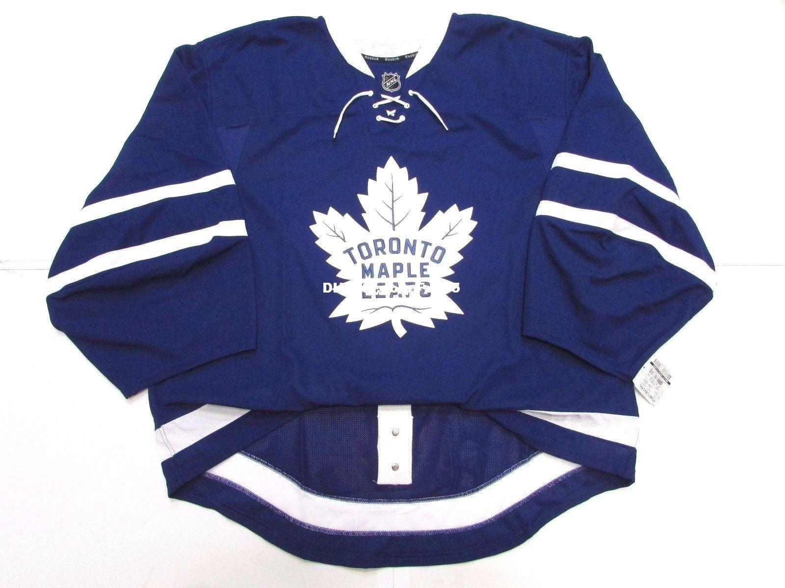 2019 Cheap Custom TORONTO MAPLE LEAFS AUTHENTIC NEW HOME EDGE JERSEY GOALIE  CUT Mens Stitched Personalized Hockey Jerseys From Fanatics sports 24b8a82a6