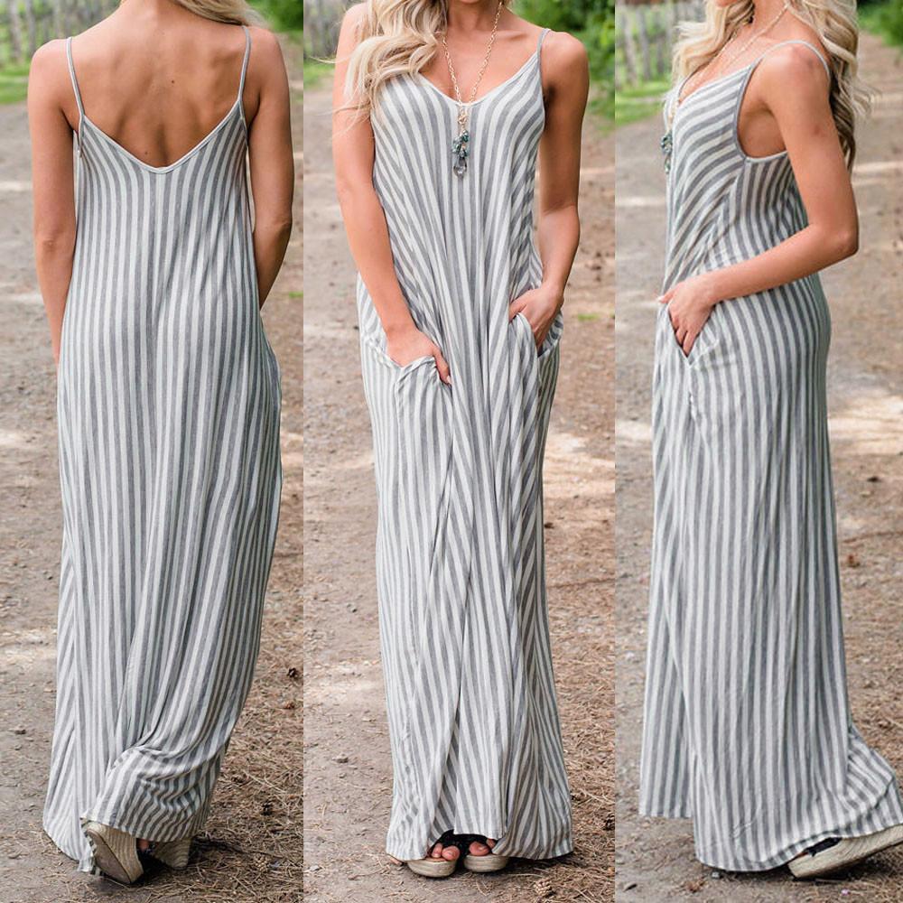 Vestido largo casual de verano