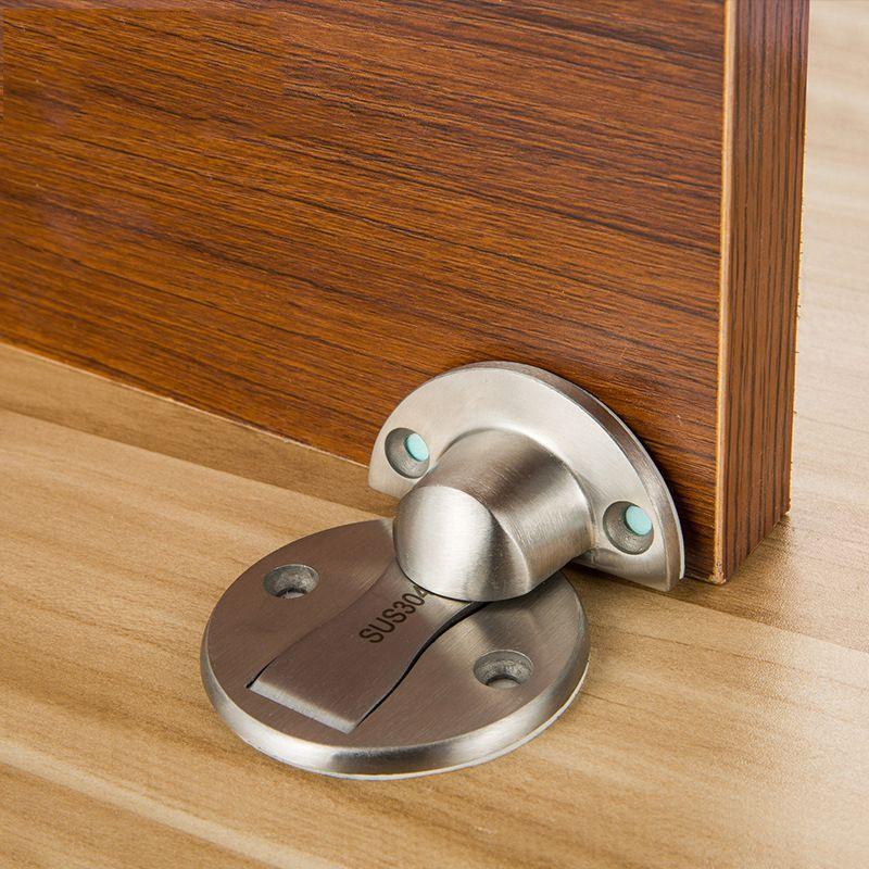 Magnet Door Stops Stainless Steel Door Stopper Magnetic Door Holder Toilet  Glass Hidden Doorstop Furniture Hardware