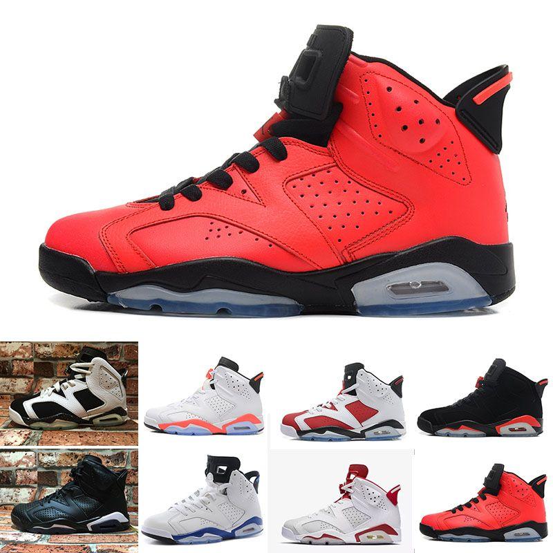 f13b7eadadfb Compre Nike Air Jordan 1 4 6 11 12 13 2018 Zapatos De Diseño De Alta  Calidad Zapatos De Baloncesto 6 6 S Infrarrojos Carmine High Low Cut Chrome  Sport Azul ...