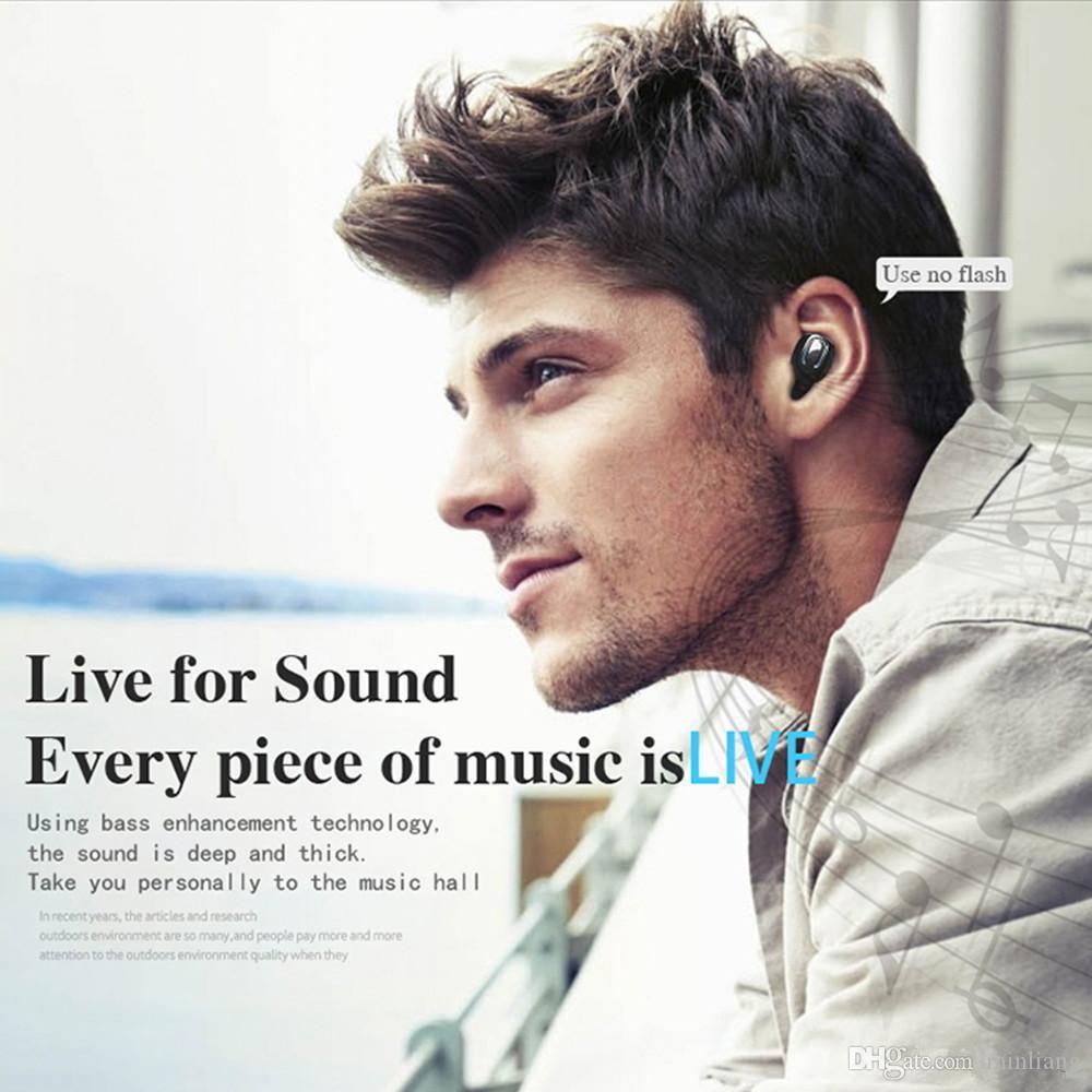 Ti8s Bluetooth 5.0-Kopfhörer TWS Wireless-Kopfhörer In-Ear-Freisprecheinrichtung für Sport-Ohrhörer mit Mikrofon-Ladekiste