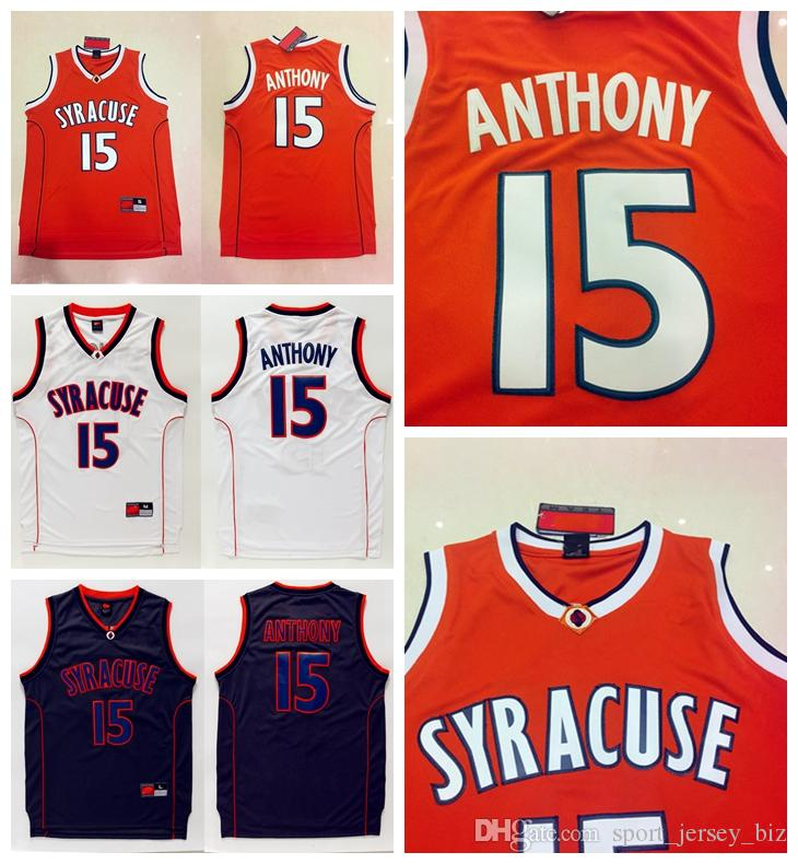 2019 Syracuse 15 Carmelo Anthony Jerseys Orange Black White Carmelo