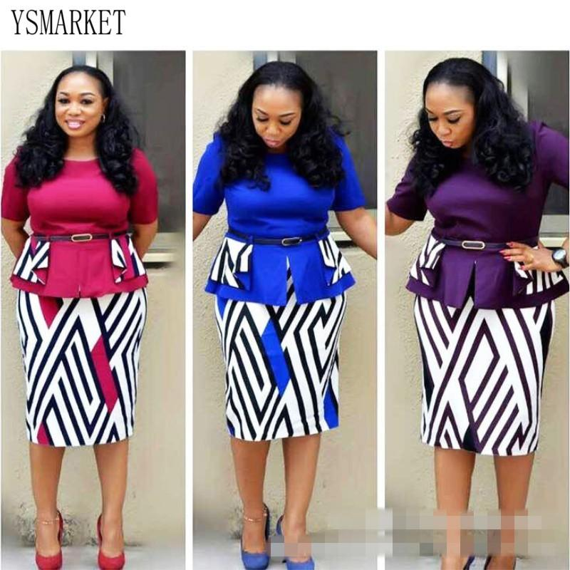 ee8c5e4b7c5 2019 YSMARKET African Print Clothes Women Tops Skirt Two Piece Set  Beautiful Cheap Summer Short Sleeve CropTop And Pencil Skirts From  Yannisfashion