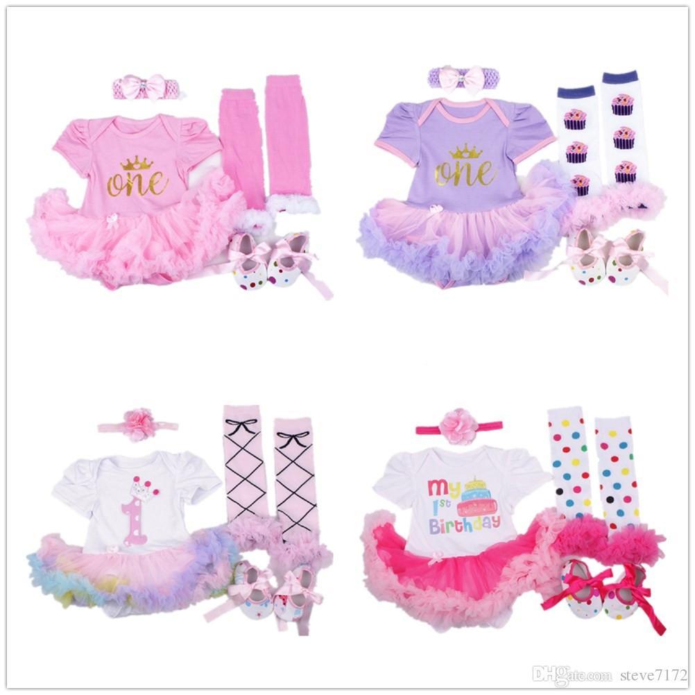34de9e8d9bf3 2019 Floral Baby Girl Dress Suit Infant Bodysuit Leggings Shoe ...