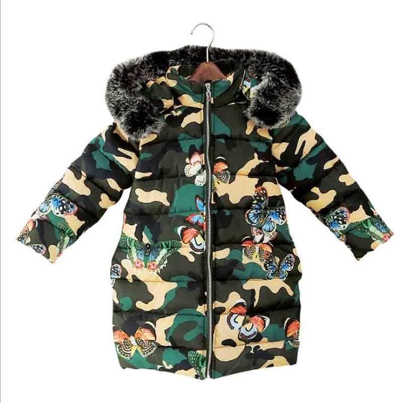 d43dfc08e748 Good Quality Childrens Winter Cotton Warm Jacket Baby Girl Printed ...