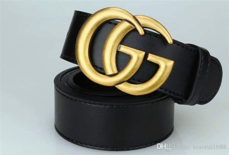 Leather 3.5cm belt the belt is 105-125cm long and weighs 140G for both men and women luxury belt
