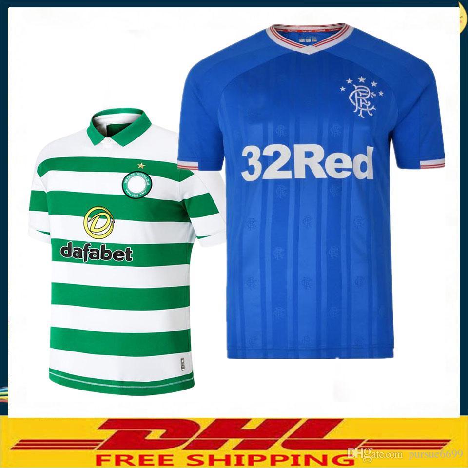 620880d33 2019 DHL 2019 2020 Glasgow Rangers Soccer Jersey 19 20 Rangers Football  Shirt Size Can Be Mixed Batch From Pursue6699