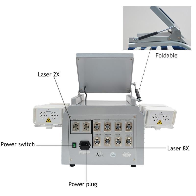 حار بيع 160 ميجا واط 650nm ديود ليزر ليزر نظام الليزر الدهون حرق السيلوليت إزالة سبا صالون آلة المنزل