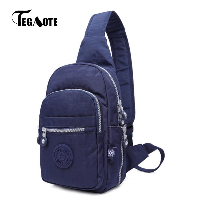 Designer TEGAOTE Chest Pack Women Single Strap Crossbody Bags Waterproof Leisure Fashion Multifunctional Sling Shoulder Bag 2019