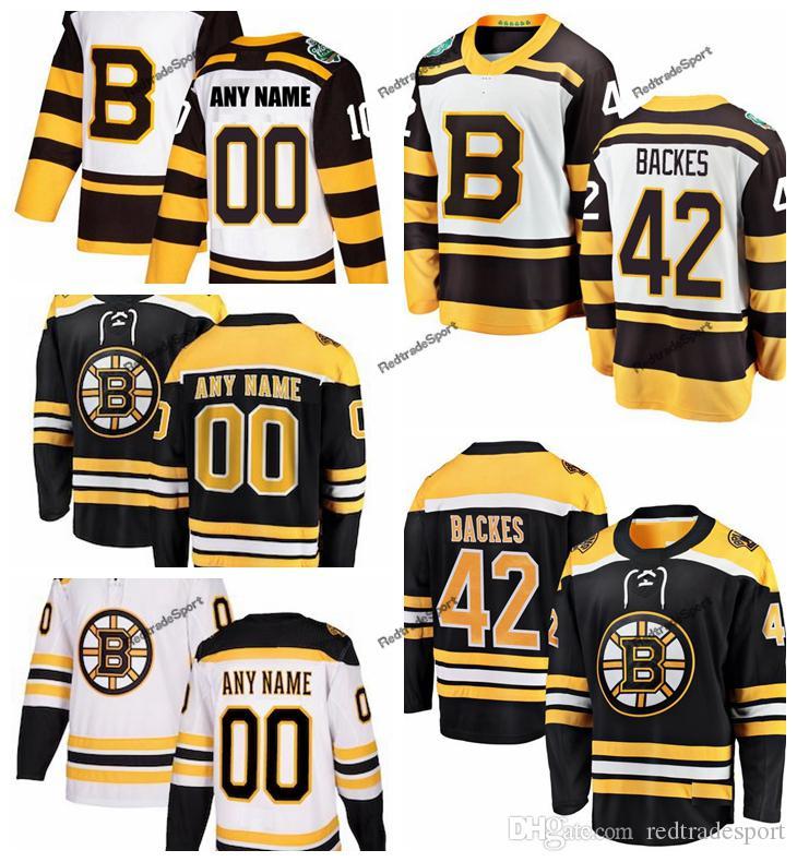 2019 2019 Winter Classic Boston Bruins David Backes Hockey Jerseys Mens  42  David Backes Black Stitched Shirts Custom Name Custom Number From  Redtradesport f8999f143