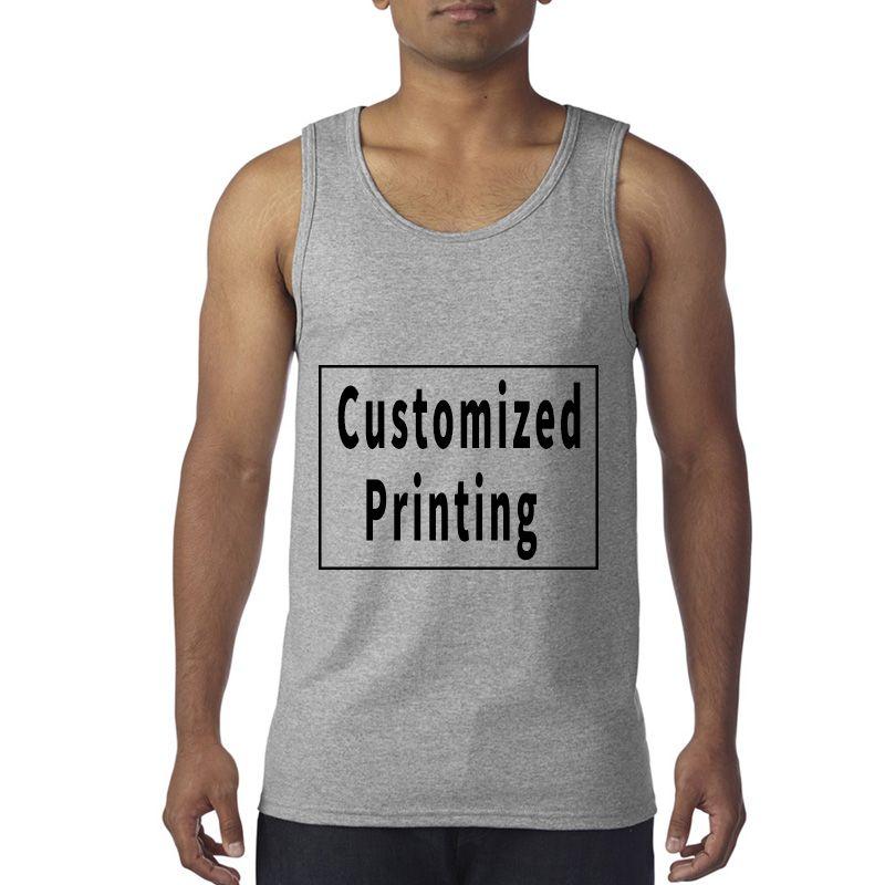 8ec6046b45d 2019 Cotton Tank Tops Male Blank Tops Men Custom Tank Tops Summer Print  Casual Vest Customized Vest From Vivianfyh