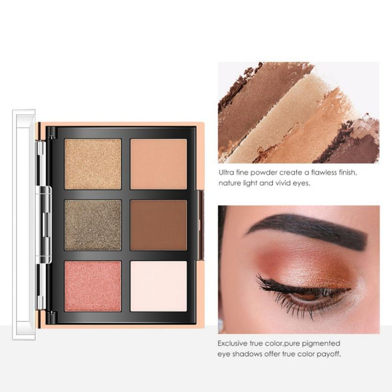 4a5de52d14ece O. TWO. O Eyeshadow Highlighter Palette Glitter Blusher Face Contour Makeup  Palette 6 Colors Eyeshadow 2 Colors Blusher