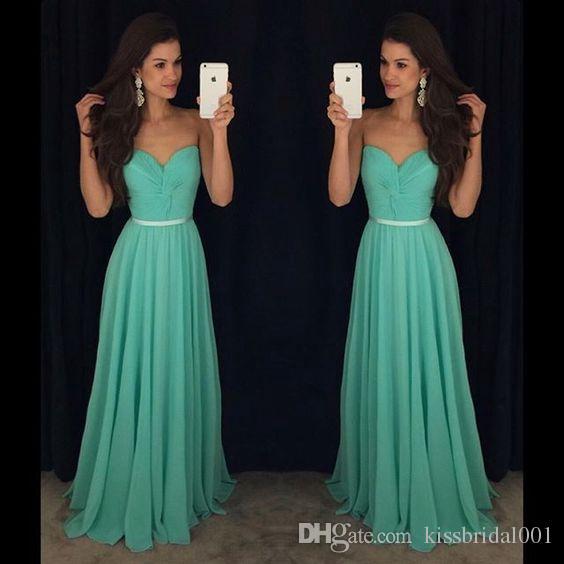 564ebdfdd15 Pleated Chiffon Prom Dresses Long Cheap Strapless Sweetheart Neckline  Sleeveless Belt Formal Evening Gowns Black Girl Ball Dress Prom Dress Shops Prom  Dress ...
