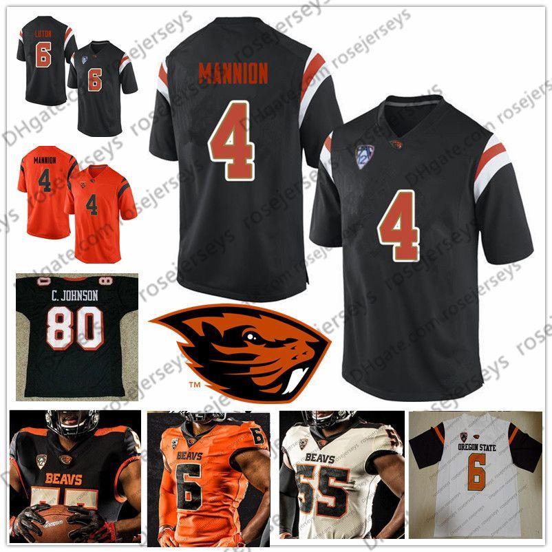 new style 0a440 eb741 NCAA Oregon State Beavers #80 Chad Johnson 85 Ochocinco 4 Sean Mannion 7  Brandin Cooks Black White Orange Ocho Cinco Retired Football Jersey