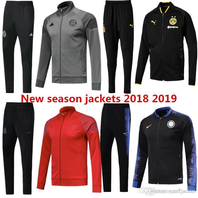 828775f2e New 18 19 Season Football Jacket Dortmund Bayern Munich 2018 2019 ...
