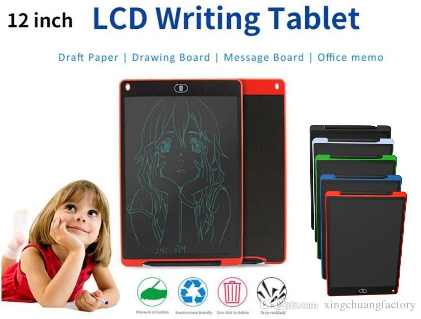 12Inch LCD Writing Tablet Drawing Board Pad for Kids Office Writing Memo Shoppin