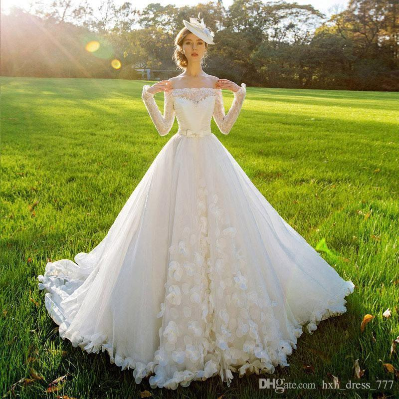 2019 New A Line Bateau Backless Plus Size Beach Vintage Wedding Dresses Spring Bridal Gowns New Arriva vestidos de novia 2018