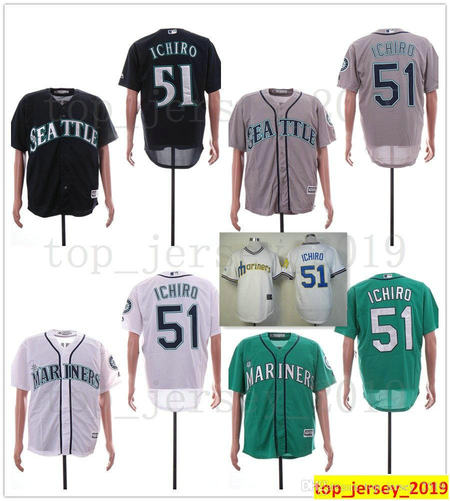fee7bd775b9 2019 Men Women Kids Youth Seattle Baseball Mariners 51 Ichiro Suzuki Jersey  New Grey White Navy Blue Green Ichiro Suzuki Jerseys Stitched From ...