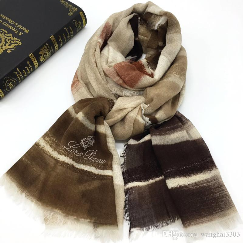 New brand high quality 100% cashmere material thin and soft print gradient long scarves for women big size 200cm -100cm