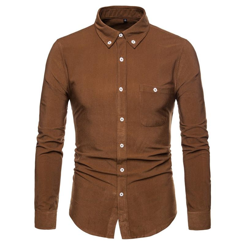 Spring Wear Male Shirt Thick Cotton Tops Turn-down Collar Blousa Europe Man Slim Blusa 5XL Solid Color Shirts Business Casual Clothing