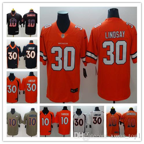 new styles ac388 e593a 2019 New Mens 10 Emmanuel Sanders Denver Broncos Jerseys 100% Stitched  Embroidery Broncos Phillip Lindsay Color Rush Football Jerseys