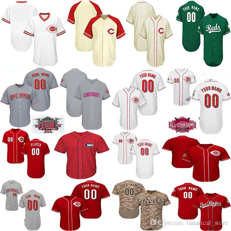 promo code 18e1e 41626 2019 Customized Men Women Toddlers Cincinnati Reds Yasiel Puig Jersey Matt  Kemp Joey Votto Any Name Number Baseball Jerseys