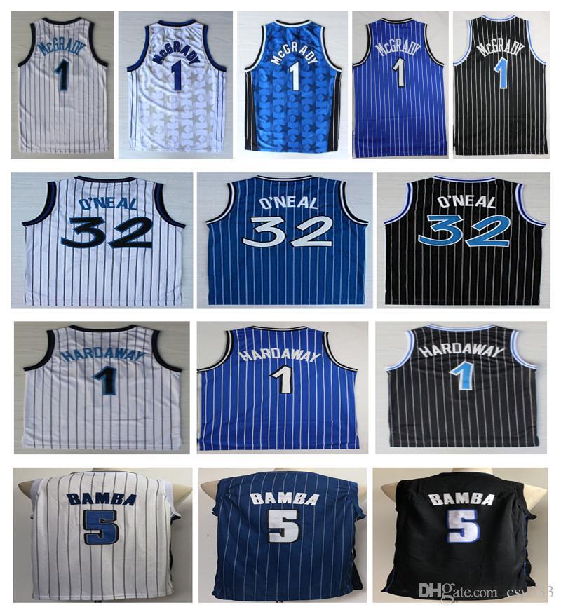 best website b7c08 5e8da 2019 Hot Men 1 Penny Hardaway Jersey 5# Mohamed Bamba 1# Tracy McGrady 32  Shaquille Oneal Black basketball Jerseys Embroidery Logo Shirt